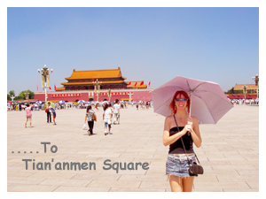 Lisa in Tian'anmen Square