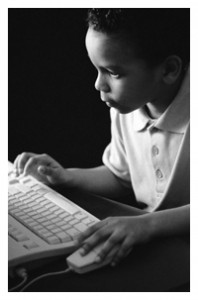 Child at keyboard