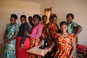 Garment workers from fairtrade unit in Malawi