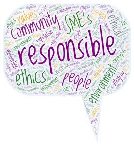Responsible business word cloud