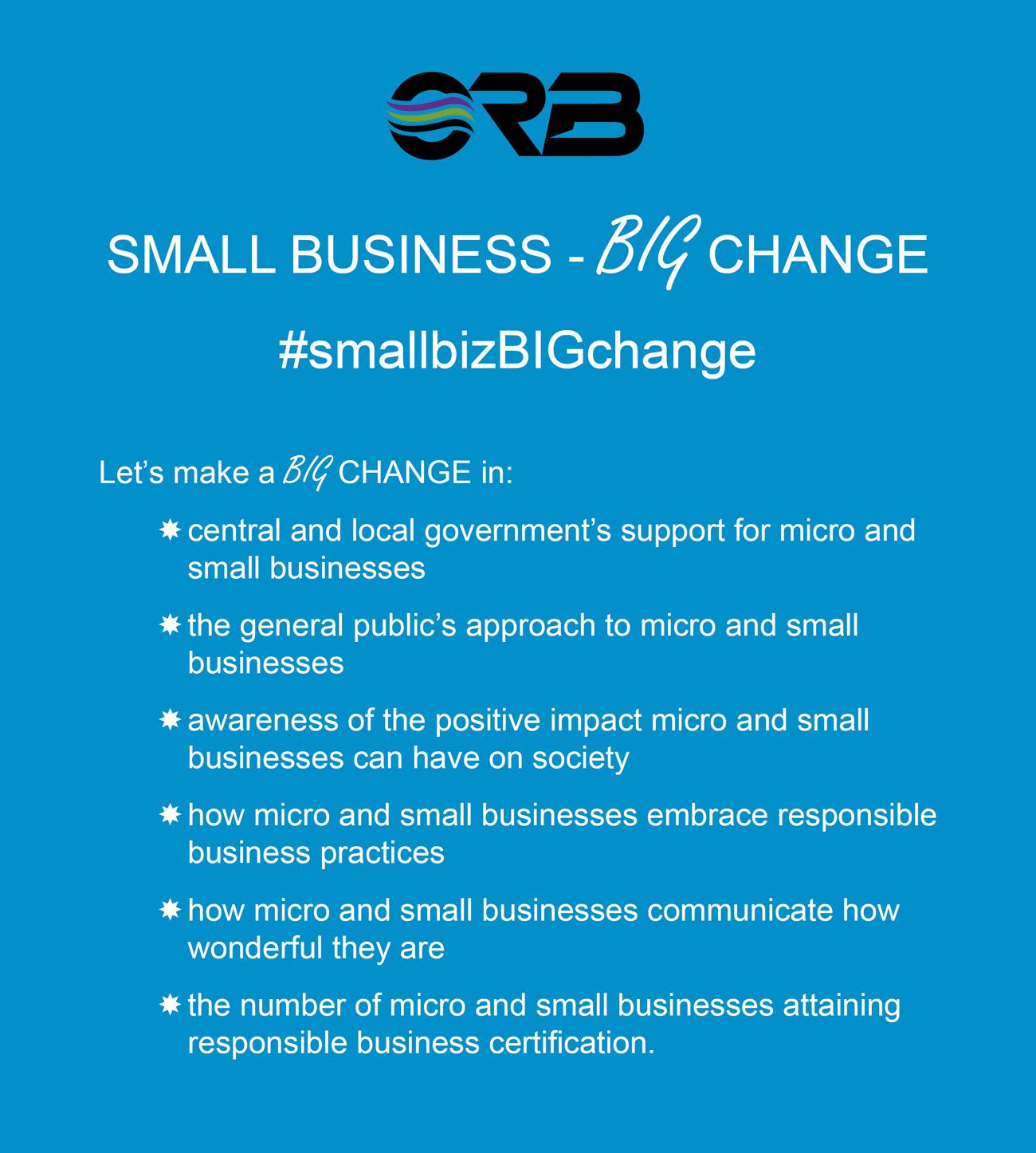 Small Business- BIG Change #smallbizBIGchange